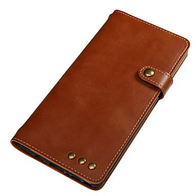 Maska Pentru Samsung Galaxy Note 8 Titluar Card Portofel Întoarce Magnetic Carcasă Telefon Culoare solidă Greu Piele autentică pentru