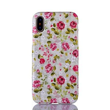 Pentru iPhone X iPhone 8 iPhone 8 Plus Carcase Huse Ultra subțire Model Carcasă Spate Maska Floare Moale TPU pentru Apple iPhone X iPhone