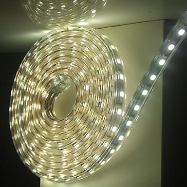 6m / 1PCS는 5050 유연한 테이프 로프 스트립 조명 크리스마스 방수 정원 야외 lightingeu가 유럽 연합 (EU)을 연결 옥외 LED 220V