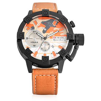 JUBAOLI Bărbați Quartz Ceas de Mână Chineză cald Vânzare Piele Bandă Vintage Casual Unic Watch Creative Modă Cool Khaki