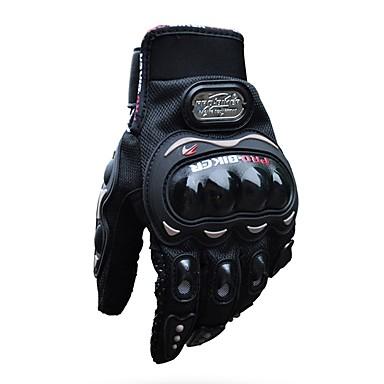 זול אופנועים וטרקטרונים-Pro-biker אצבע מלאה האופניים יוניסקס airsoftsports רכיבה מירוץ כפפות טקטיות מנוע אוטומטי הגנה רכיבה ספורט כפפות סיליקון / ניילון סיבים לנשימה / lightweight / shockproof mcs-01c שחור