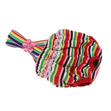 Câine Pantaloni Îmbrăcăminte Câini Nuntă Dungi Negru Rosu Roz Curcubeu