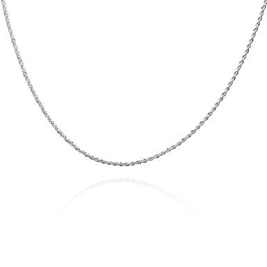 billige Mode Halskæde-Herre Dame geometrisk Kædehalskæde Sølvbelagt Twist Circle Basale Mode Sølv Halskæder Smykker Til Daglig Afslappet