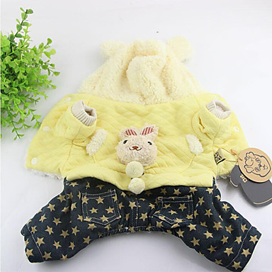Câine Hanorace cu Glugă Salopete Îmbrăcăminte Câini Casul/Zilnic Rabbit / bunny Costume Pentru animale de companie