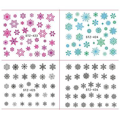 18pcs/set Aplicația de transfer de apă Nail Sticker Ornamente de crăciun Decals pentru unghii Crăciun Nail Art Design