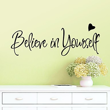 Fashion Shapes Words & Quotes Wall Stickers Plane Wall Stickers ...