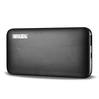Waza 6000mah power bank externe batterij oplader snelle lading voor iphone 8, x, samsung galaxy, etc.