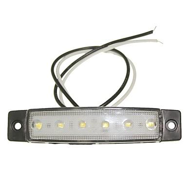 Недорогие Фары для мотоциклов-SENCART 12шт Грузовик / Мотоцикл / Автомобиль Лампы 1.5W SMD LED 120lm 6 Внешние осветительные приборы For Универсальный Все года