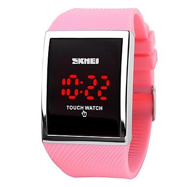 skmei promoție de vânzare la cald moda a condus ceas pentru doamnelor digitale brățară ceasuri de mână femeile touch screen ceasuri