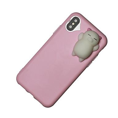 Pentru iPhone X iPhone 8 iPhone 8 Plus Carcase Huse squishy Carcasă Spate Maska Desene 3D Moale TPU pentru Apple iPhone X iPhone 8 Plus