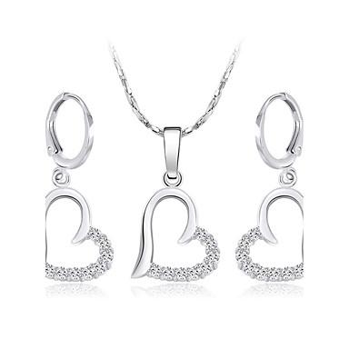 Pentru femei Cercei Picătură Lănțișor Zirconiu Cubic Argilă Inimă Iubire Inimă Nuntă Logodnă Σκουλαρίκια Coliere Costum de bijuterii