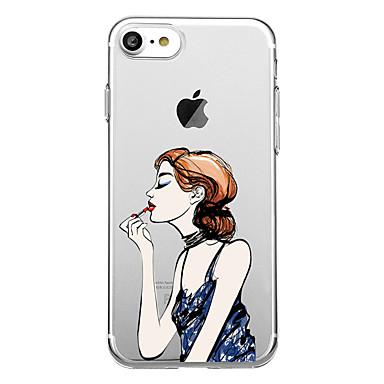 Pentru iPhone 7 iPhone 7 Plus Carcase Huse Transparent Model Carcasă Spate Maska Femeie Sexy Moale TPU pentru Apple iPhone 7 Plus iPhone