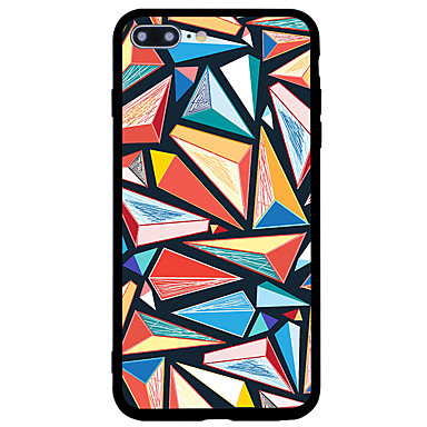Maska Pentru Apple iPhone 7 iPhone 7 Plus Anti Șoc Model Carcasă Spate Model Geometric Greu Acrilic pentru iPhone 7 Plus iPhone 7 iPhone