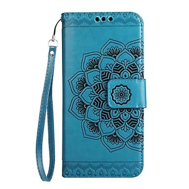 Maska Pentru Samsung Galaxy J7 (2017) J5 (2017) J3 (2017) Titluar Card Portofel Întoarce Model Embosat Carcasă Telefon Mandala Floare Greu
