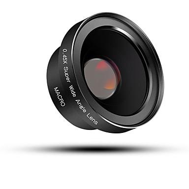 bluecase obiectiv de telefon mobil 0.45x cu unghi larg obiectiv lentilă macro din aluminiu din aliaj de sticlă 52mm pentru iphone mobil
