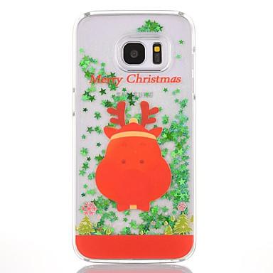 Maska Pentru Samsung Galaxy S7 edge S7 Scurgere Lichid Transparent Model Carcasă Spate Crăciun Greu PC pentru S7 edge S7 S6 edge plus S6