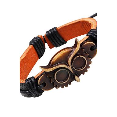 Кожаные браслеты - Кожа Сова Винтаж Браслеты Черный Назначение Повседневные На выход