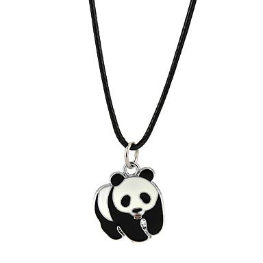 billige Mode Halskæde-Herre Dame Halskædevedhæng Panda Klassisk Yndig Sort Halskæder Smykker Til Forlovelse Afslappet