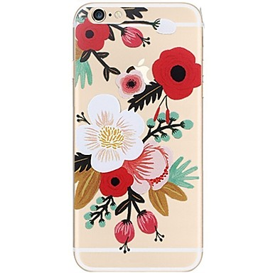 Maska Pentru Apple iPhone 7 Plus iPhone 7 Ultra subțire Model Capac Spate Floare Moale TPU pentru iPhone 7 Plus iPhone 7 iPhone 6s Plus
