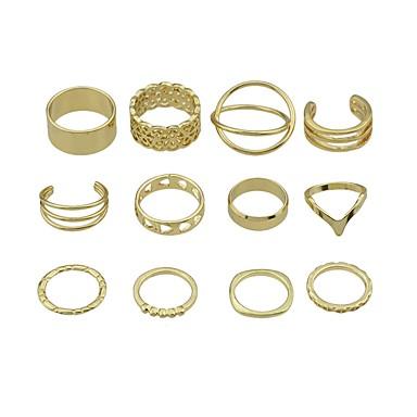 Pentru femei Seturi de inele Bijuterii Design Basic Personalizat Aliaj Circle Shape Bijuterii Pentru Zilnic Casual