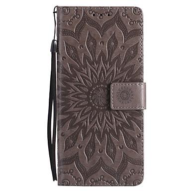 Недорогие Чехлы и кейсы для Galaxy Note 3-Кейс для Назначение SSamsung Galaxy Note 8 / Note 5 / Note 4 Кошелек / Бумажник для карт / со стендом Чехол Цветы Твердый Кожа PU