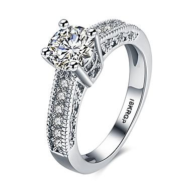 1099 Damskie Kryształ Obrączka Pierścionek Zaręczynowy Cyrkon Stop Serce Damska Minimalistyczny Styl Moda Modne Pierścionki Biżuteria