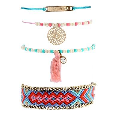 Pentru femei Brățări cu Lanț & Legături Brățări cu Talismane Ciucure Boem Ștras Aliaj Bijuterii Scenă Stradă Costum de bijuterii