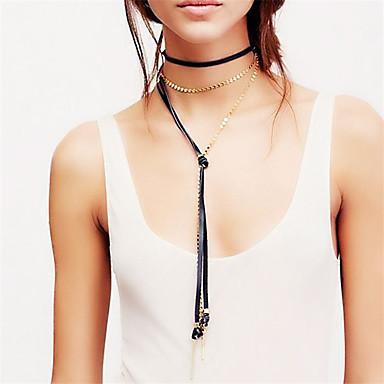 Pentru femei Personalizat Modă Ajustabile Euramerican Coliere Choker Y-Coliere Bijuterii Piele  Articole de ceramică Coliere Choker