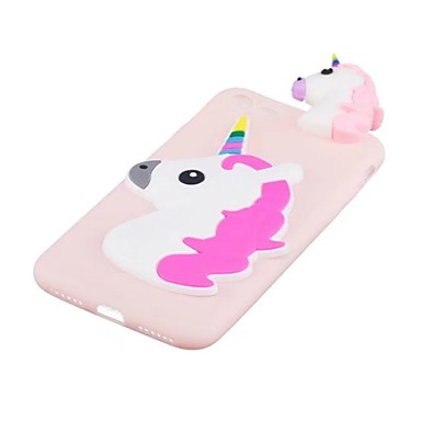 Case For Apple iPhone X Shockproof Back Cover Unicorn 3D Cartoon Soft TPU for iPhone X iPhone 8 Plus iPhone 8 iPhone 7 Plus iPhone 7