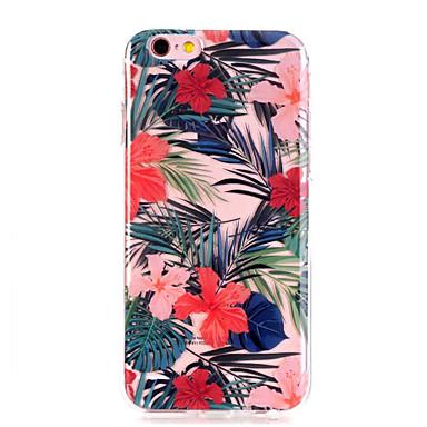 Кейс для Назначение Apple iPhone X / iPhone 8 / iPhone 8 Plus Ультратонкий / Прозрачный / С узором Кейс на заднюю панель Цветы Мягкий ТПУ
