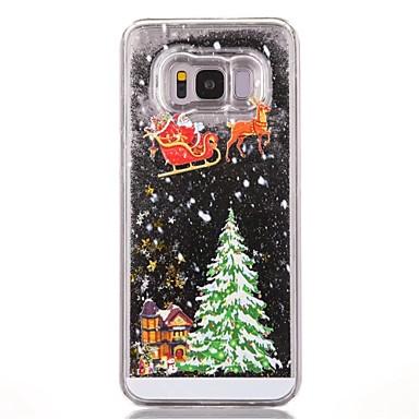 رخيصةأون Galaxy S6 Edge أغطية / كفرات-غطاء من أجل Samsung Galaxy S7 edge / S7 / S6 edge سائل متدفق / نموذج غطاء خلفي عيد الميلاد قاسي الكمبيوتر الشخصي