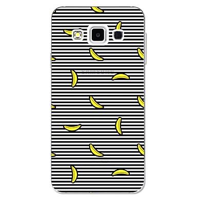 voordelige Galaxy A-serie hoesjes / covers-hoesje Voor Samsung Galaxy A3 (2017) / A5 (2017) / A7 (2017) Patroon Achterkant Lijnen / golven / Fruit Zacht TPU