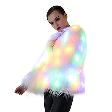 LED 티셔츠 인조 모피 코트/자켓 파티/이브닝 LED 파티 어둠속에 발광 생일 캐쥬얼/데일리 새로운 도착 Chrismas Illuminated 웨딩 3 AA 배터리