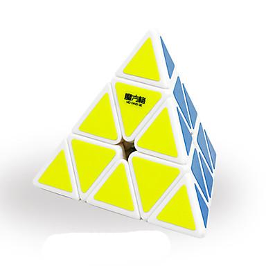 مكعب روبيك QI YI Pyramid السلس مكعب سرعة مكعبات سحرية لغز مكعب لهو هدية كلاسيكي للجنسين