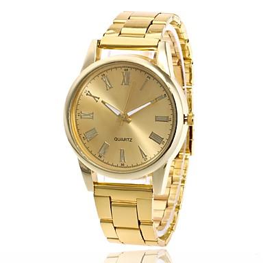 저렴한 남성용 시계-남성용 여성용 손목 시계 금시계 석영 메탈 실버 / 골드 / 로즈 골드 캐쥬얼 시계 아날로그 참 패션 - 골드 실버 로즈 골드
