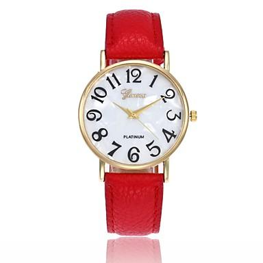 levne Pánské-Pánské Dámské Náramkové hodinky Křemenný Kůže Černá / Bílá / Modrá Hodinky na běžné nošení Analogové Přívěšky Módní - Růžová Khaki Světle zelená