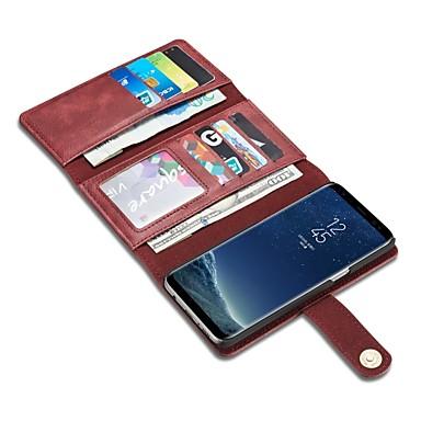 voordelige Galaxy S-serie hoesjes / covers-hoesje Voor Samsung Galaxy S8 Plus / S8 / S7 edge Portemonnee / Kaarthouder / Flip Volledig hoesje Effen Kleur Hard aitoa nahkaa