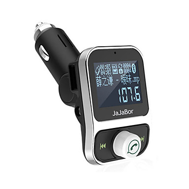 voordelige Bluetooth autokit/handsfree-dubbele usb-set kit bluetooth mp3-speler oplader handsfree oproep draadloze fm zender modulator met lcd display