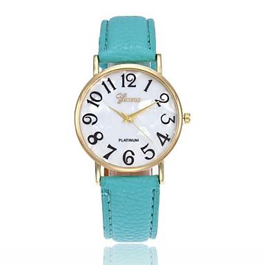 זול שעוני גברים-בגדי ריקוד גברים בגדי ריקוד נשים שעון יד קווארץ עור שחור / לבן / כחול שעונים יום יומיים אנלוגי קסם אופנתי - ורוד חאקי ירוק בהיר