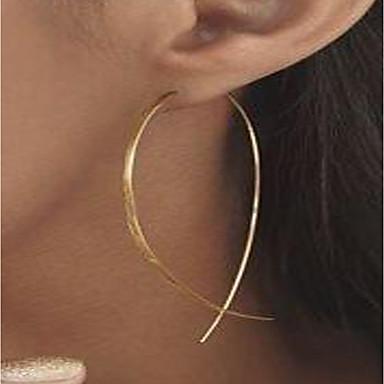 levne Náušnice-Dámské Peckové náušnice Náušnice - Kruhy Pozlacené Náušnice dámy Přizpůsobeno minimalistický styl Šperky Zlatá / Stříbrná Pro Street Klub