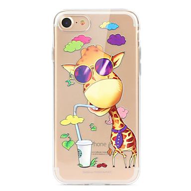Coque Pour Apple iPhone X iPhone 8 iPhone 8 Plus Ultrafine Transparente Motif Coque Bande dessinée Animal Flexible TPU pour iPhone X