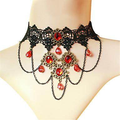 Söpö Lolita Kaulakoru Vintage-kokoelma Punainen Lolita Tarvikkeet Yhtenäinen Necklace Polyesteri Metalli