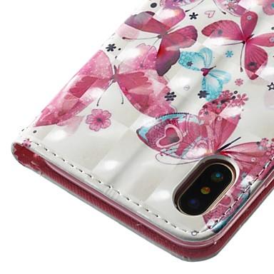 8 supporto Porta Apple iPhone pelle 8 X iPhone X portafoglio 06287091 sintetica Farfalla iPhone 8 carte Resistente Custodia credito Per Integrale per iPhone 8 Plus Plus iPhone di Con iPhone A a4q4F5xP