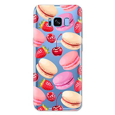 Недорогие Чехлы и кейсы для Galaxy S6-Кейс для Назначение SSamsung Galaxy S8 Plus / S8 / S7 edge С узором Кейс на заднюю панель Продукты питания Мягкий ТПУ