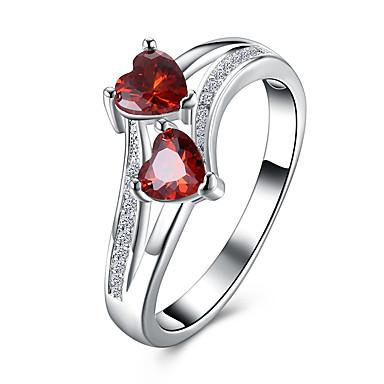 Жен. Классические кольца Цирконий Сердце Мода Циркон Сердце Бижутерия Для вечеринок Halloween