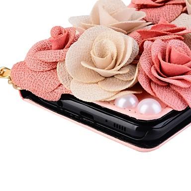 Недорогие Чехлы и кейсы для Galaxy S6 Edge-Кейс для Назначение SSamsung Galaxy S8 Plus / S8 / S7 edge Кошелек / Бумажник для карт / со стендом Чехол Цветы Твердый Кожа PU