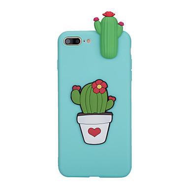 Capinha Para Apple iPhone X / iPhone 8 Áspero Capa traseira Flor Macia TPU para iPhone X / iPhone 8 Plus / iPhone 8