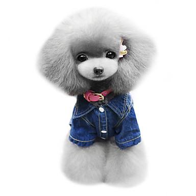 Koira Hupparit Farkkutakit Koiran vaatteet Kantri Muoti Farkut Sininen Asu Lemmikit
