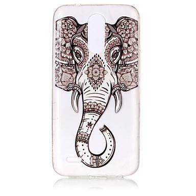 ieftine Carcase / Huse de LG-Maska Pentru LG LG K10 (2017) / LG K8 (2017) Ultra subțire / Transparent / Embosat Capac Spate Elefant Moale TPU
