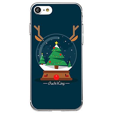 voordelige iPhone 5 hoesjes-hoesje Voor iPhone 7 / iPhone 7 Plus / iPhone 6s Plus iPhone 8 Plus / iPhone 8 / iPhone SE / 5s Patroon Achterkant Cartoon / Kerstmis Zacht TPU